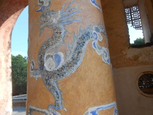 dragon mosaic