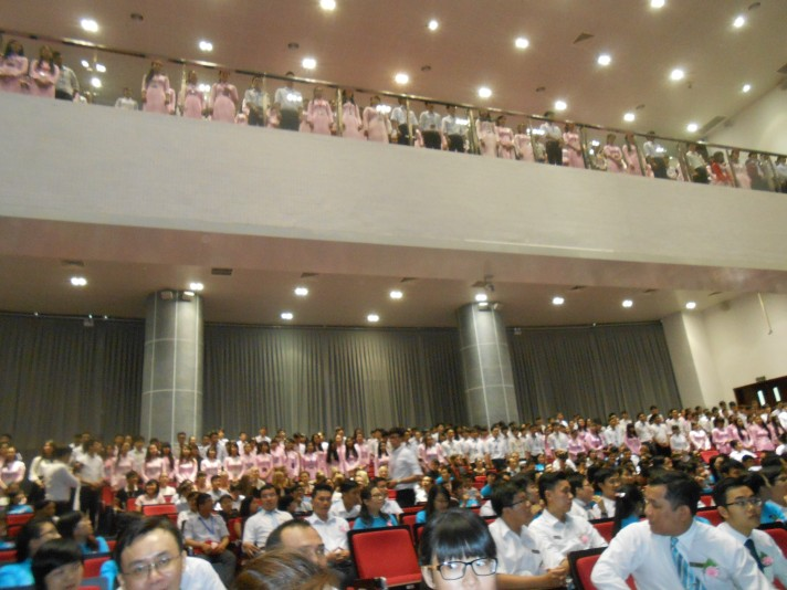 Crowd in auditorium
