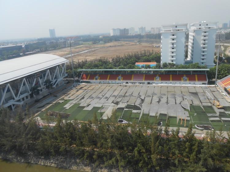 redoing the soccer field